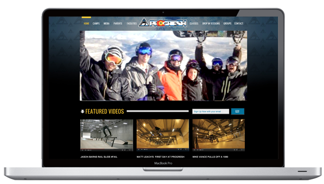 progresh homepage